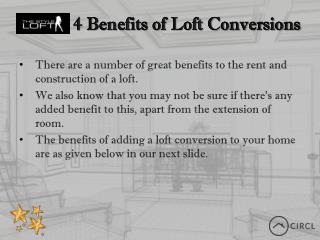 CIRCLAPP Lofts for Rent - 4 Benefits of Loft Conversions
