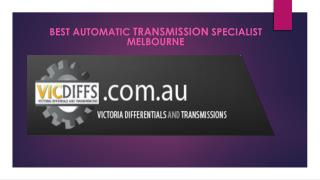 Best Automatic Transmission Specialist Melbourne