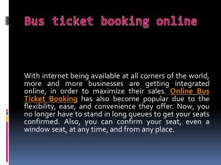 Bus tickets booking online