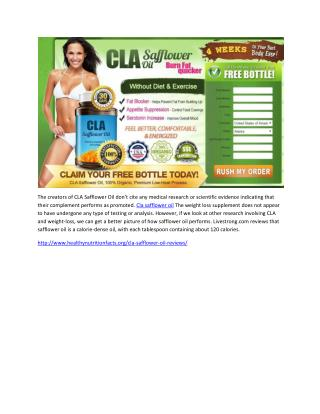 12 Questions Answered About Cla safflower oil