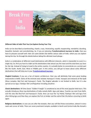 breakfreeinindia - travel in india