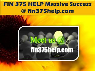FIN 375 HELP Massive Success @ fin375help.com