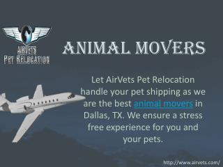 Animal Movers