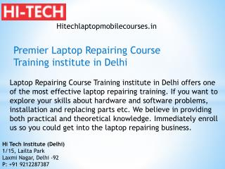 Premier Laptop Repairing Course Training institute in Delhi
