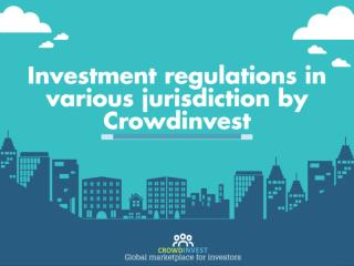 Crowdfunding regulation in various jurisdiction