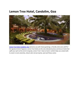 Lemon Tree Hotel, Candolim, Goa