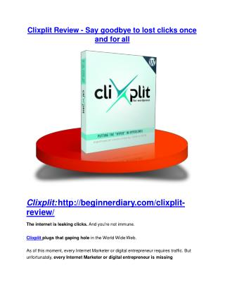 Clixplit review and giant bonus with  100 items