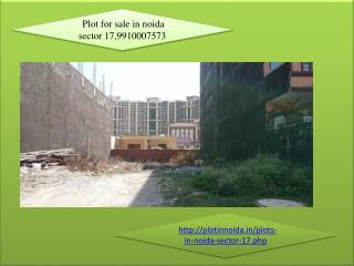 Plot for sale in noida sector 17, Resale plots in noida, 9910007573