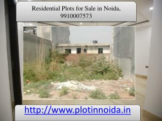 Residential Plots for Sale in Noida, Plots in Noida, 9910007573