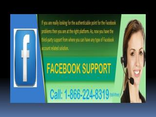 Get lost password recovery service with Facebook Support team @ 1-866-224-8319