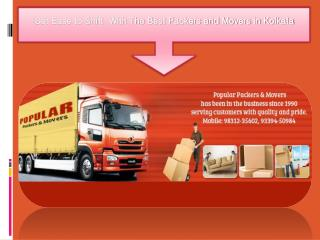 Get Ease to Shift  With The Best Packers and Movers in Kolkata