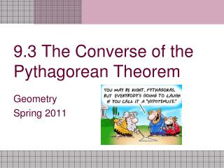 9.3 The Converse of the Pythagorean Theorem