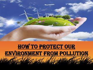 Caleb Laieski - How to Protect Our Environment from Pollution