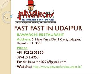 Fast food in udaipur