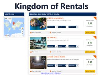 Book your holidays with kingdom of rentals