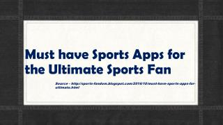 Must have Sports Apps for the Ultimate Sports Fan