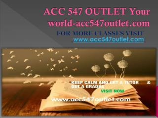 ACC 547 OUTLET Your world-acc547outlet.com