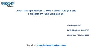 Smart Storage Market to 2025-Industry Analysis, Applications, Opportunities and Trends |The Insight Partners