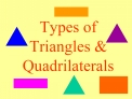 Types of Triangles  Quadrilaterals