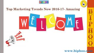Top Marketing Trends Now 2016-17