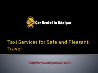 Taxi Services for Safe and Pleasant Travel