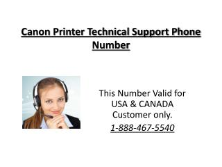 1-888-467-5540 Canon Printer Technical Support Phone Number