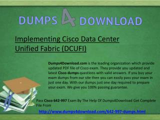 Download Cisco 642-997 Exam Dumps Question