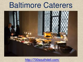 Baltimore Caterers Menu