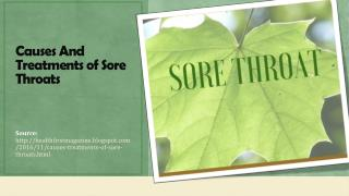 Causes & Treatments of Sore Throats