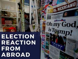 Election reaction from abroad