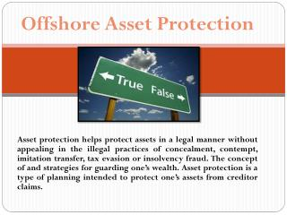 Asset Protection Product