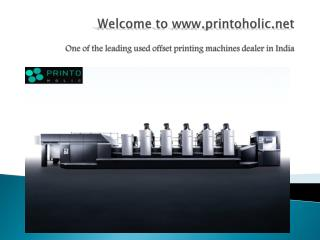 Used offset printing machine in Delhi