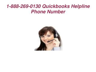 Quickbooks Helpline Phone Number 1 888 269 0130