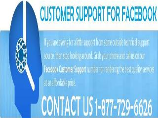 Associate with Facebook Customer Support 1-877-729-6626 and appreciate blunder free Facebook