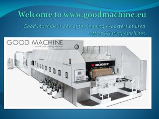 Used Offset Printing Machines-Good Machine
