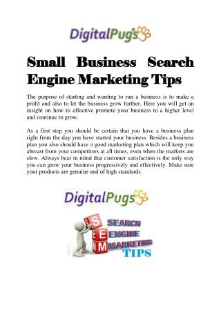 Small Business Search Engine Marketing Tips