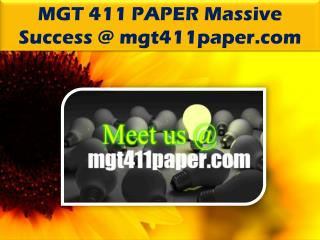 MGT 411 PAPER Massive Success /mgt411paper.com