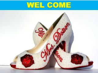 Stunning custom wedding shoes or custom shoes available