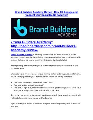 Brand Builders Academy review demo and premium bonus