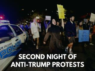 Second night of anti-Trump protests