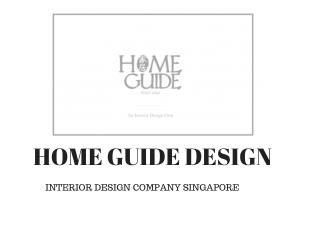 Interior Design Singapore | Home Guide Design