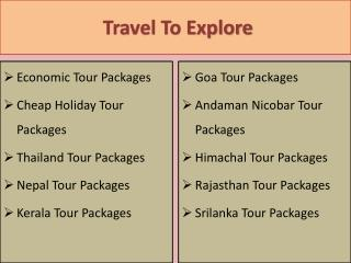 Amazing Tour Packages in Andaman & Nicobar