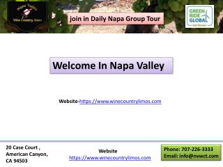 Napa wine tasting private tours