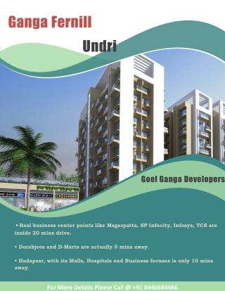Flats for sale at Ganga Fernill Undri