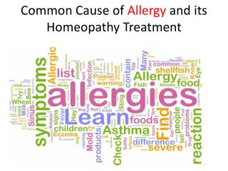 Homeopathic treatment for allergy.