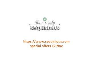 www.sequinious.com special offers 12 Nov