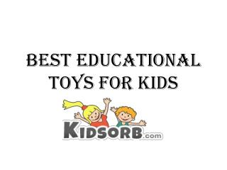 Shop Best Educational Toys For Kids