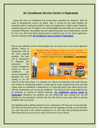 Air Conditioner Service Center in Hyderabad