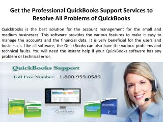 Get the Professional QuickBooks Support Services to Resolve All Problems of QuickBooks