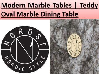 Modern Marble Tables | Teddy Oval Marble Dining Table